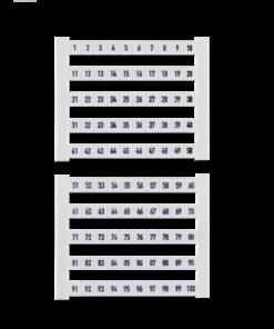 Weidmueller Klemmenmarkierer DEK 1-50 (50 Stk.)